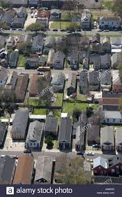 aerial view of housing in new orleans louisiana showing shotgun
