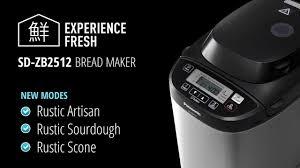 Bread Machine Sourdough Recipe Panasonic Sd Zb2512 Artisan Bread Maker Youtube