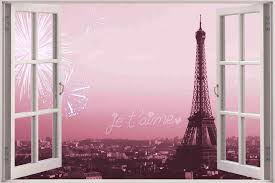 wall decals paris theme giant cm bedroom wall home decor