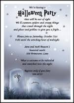find spooky halloween invitation wording samples invites 99