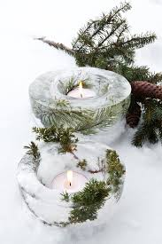 create your own unique outdoor ice candle lights diy