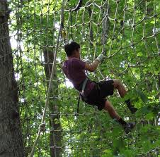 Backyard Zip Line Without Trees by Atlanta Gwinnett Ga Zip Lines And Treetop Obstacle Courses