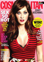 yummy yummy zooey deschanel on cover cosmo this month ign