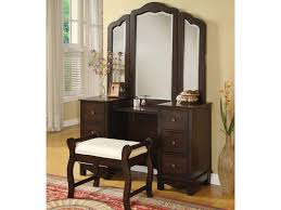 Acme Furniture Acme Furniture Annapolis Vanity Set With Upholstered Stool Del