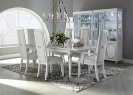 White Chairs For Dining Table Decorating Attractive Michael Amini Furniture For Living Room