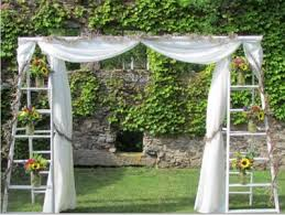 wooden ladder wedding arch so this is happening update in