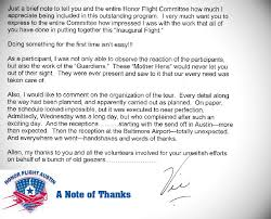 Thank You Letter Veterans a thank you to all our volunteers and guardians from one of our wwii