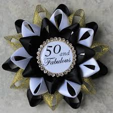 50th birthday party supplies 50th birthday pin 50 and fabulous pin 50th birthday party