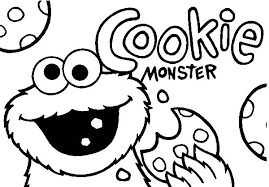 cookie monster coloring pages kids coloringstar