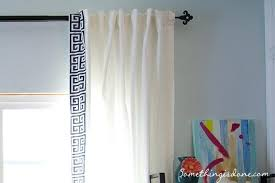 White Curtains With Blue Trim Blue And White Drapes Baddgoddess