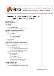 dba1651 production management anna univ entire notes