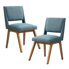 Blue Upholstered Dining Chairs Contemporary Dining Chairs Upholstered Mid Century Modern Set Of 2