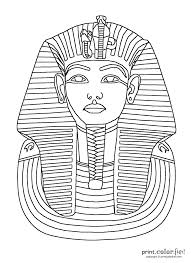king tut mask print color fun free printables coloring pages