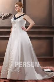 robe de mari e bicolore robe de mariée grande taille encolure en v bustier ruban pailleté