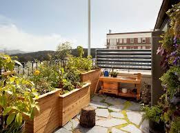 small balcony garden deck scandinavian with outdoor table and
