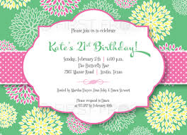 Lunch Invitation Card Floral Fun Printable Invitation Wedding Bridal Shower Tea