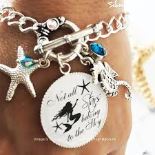 silver jewelry charm bracelet images Beach girl bracelet silver mermaid charm bracelet starfish jpg