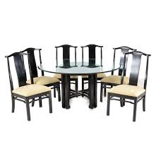 bernhardt furniture asian inspired dining set ebth