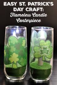 st patricks day craft flameless candle centerpiece happy mothering