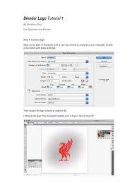 blender tutorial pdf 2 7 document1 by christian d h blender logo tutorial 1 pdf pdf