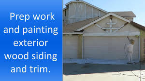wood paneling exterior how to paint exterior wood siding and trim youtube
