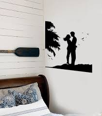 ocean marine wall vinyl decal page 2 wallstickers4you wall stickers vinyl decal couple in love romantic sunset beach bedroom ig1887