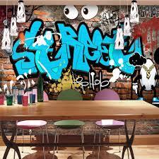online get cheap 3d wall murals wallpaper graffiti aliexpress com