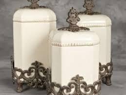 beige fleur de lis ceramic kitchen canisters set 3 by kitchen canisters set remodel hunt