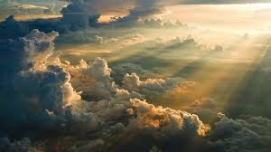 nature sky clouds sun rays aerial view wallpapers hd desktop