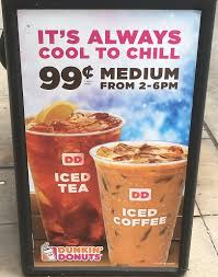 Coffee Dunkin Donut dunkin donuts medium iced coffee or tea deal chicago on the cheap