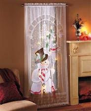 Santa Curtains Unbranded Holiday Curtains Drapes U0026 Valances Ebay
