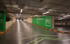 Car Park by The Dubai Mall Car Parks Wayfinding And Signage Wall Painted