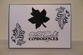 condolences card heartfelt condolences card nuts on shells