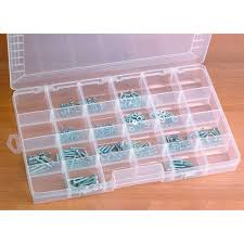 Plastic Storage Containers Dividers - 24 compartment storage container adjustable dividers clear