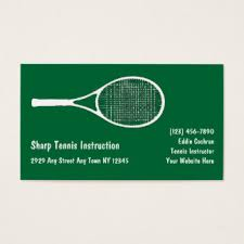 tennis business cards templates zazzle