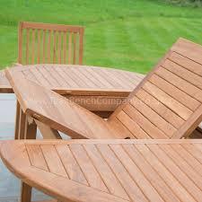 Teak Garden Benches Extendable Dining Set Six Seat Teak Garden Furniture