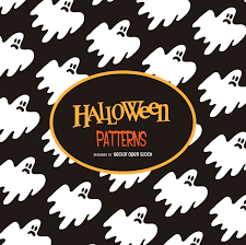 halloween ghost illustration pattern vector download