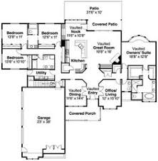 Floor Plan With Central Kitchen And Wrap Around Porch Home Centralized Kitchen Floor Plans