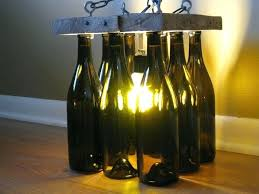 Glass Bottle Chandelier Diy Recycled Wine Bottle Chandelier Recycled Wine Bottle
