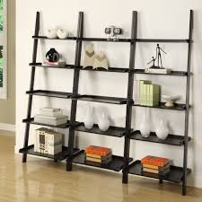 Leaning Ladder Bookcases by Amazon Com Mintra Black Finish 5 Tier Ladder Book Shelf Kitchen