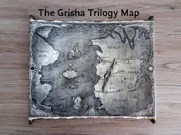 Eragon Map The Grisha Trilogy Map Scroll Ravka Map Grishaverse Map