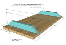 Free Wood Picnic Bench Plans by Ana White Build A Bigger Kid U0027s Picnic Table Diy Projects