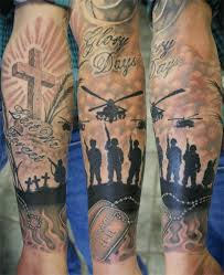 military sleeve tattoos army sleeve rites of passage tattoo