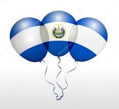Flag El Salvador El Salvador National Flag Balloons U2014 Stock Vector Ckybe 88103098