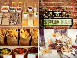 baked potato bar wedding savoury wedding food station fred