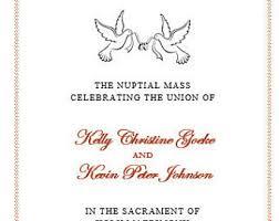 wedding mass program template catholic wedding ceremony mass printable diy program template