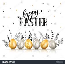 happy easter greeting card eggs ornaments stock vector 593993255