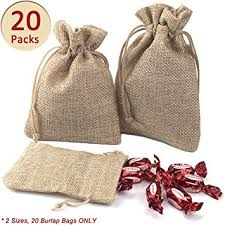 small burlap bags advcer burlap bags with drawstring set 5 5 x 4 and