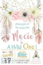 tribal wild one birthday invitation digital copy by tagsfortots
