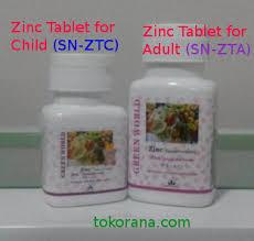 Obat Zinc manfaat obat penambah berat badan zinc tablet dari green world